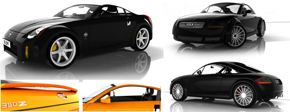 Rhino 3D modelling - The old shape Audi TT was the first attempt and from what I learnt doing this I made the Nissan 350Z model. I can also use Alias and some Maya but for quick, enjoyable results I'm a fan of Rhino