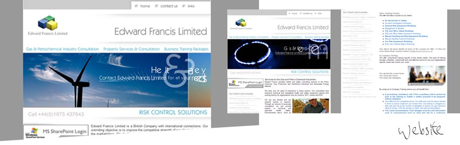 Edward Francis Ltd - Edward Francis required a contemporary and professional refresh of their website.