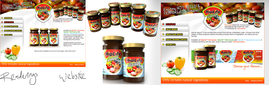 HipLife Sauce needed a website for promoting their sauce range and acting as a point of contact following flyer and exhibition coverage of their products.