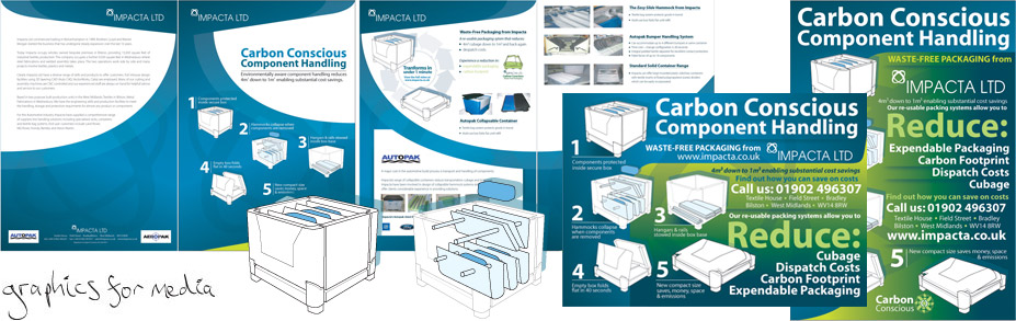 Impacta Ltd manufacture collapsible, environmentally-friendly packaging solutions for line-side production. They required promotional material and graphics for presentations including descriptive illustrations for how their systems work. Impacta Ltd manufacture collapsible, environmentally-friendly packaging solutions for line-side production. They required promotional material and graphics for presentations including descriptive illustrations for how their systems work.